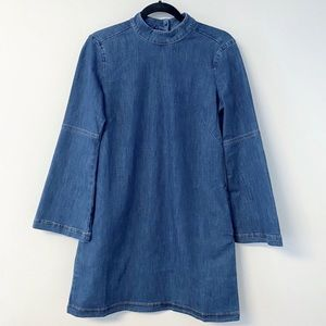Esprit Denim Dress with Bell Sleeves Size Small
